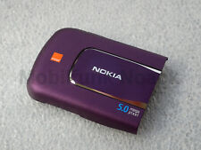 Original Nokia 6220 classic Battery Cover | Akkudeckel Orange Logo Plum Lila NEU