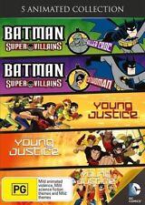 BATMAN SUPER VILLIANS: Killer Croc+Catwoman+YOUNG JUSTICE S1 Vol 1-3 DVD NEW R4