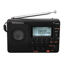 Retekess V115 Radio Receiver Fm Am Sw Portable Radio with Usb Mp3 Digital R P4Z6