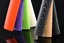 Plaque Micarta lin 125x60mm multicolore / Stratifié décoratif / coutellerie