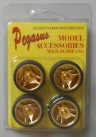 DEEP 32s GOLD RIMS w TIRES PEGASUS 1:24 1:25 CAR MODEL ACCESSORY 1232