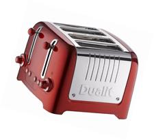 Dualit Lite 4 Slot Toaster Metallic Red - 46281