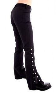 SALE Black Pistol Button Hipster Denim Trousers Goth Punk Steampunk Vampire Emo