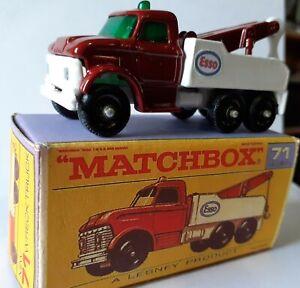 Matchbox Regular Wheels No 71 Ford Heavy Wreck Truck. code 3 with box