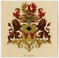 Antique Print-HERALDRY-COAT OF ARMS-MARTENS-Wenning-Rietstap-1883