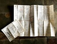 Vintage University of Texas at Austin UT Shuttle Bus and Campus Map from 1980s