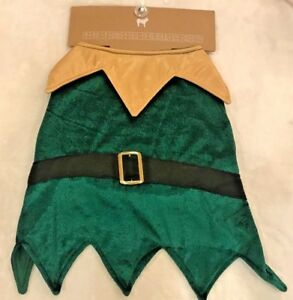 Elf Dog Costume - Green Velour - MEDIUM - Christmas Holiday - Jingles & Joy -NWT