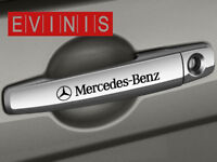 MERCEDES BENZ SMALL SYMBOL DOOR HANDLE DECALS STICKERS GRAPHICS X4