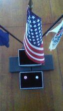 MADE IN AMERICA  3 X 2 X 9/16 8ea BLACK & SILVER EARRING VELVET LINED BOX $1