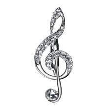 Chiave Violino Spilla Pin Musica Note Color-Argento Strass Spilla