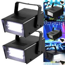 2pcs Mini DJ Strobe Light Flash Light 24LED Bulb Club Stage Light Party Disco