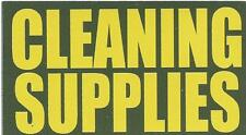 """Vinyl Ammo Can Magnet label """"Cleaning Supplies"""" Bold"""