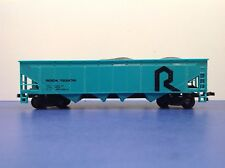 "HO Scale ""The Rock"" 4-bay Open Hopper Freight Train Car  With Coal # 133274"