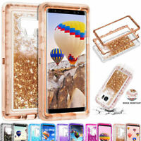 For Samsung Galaxy Note9 8 S7 S8 S9 S10 Plus Liquid Glitter Bling Quicksand Case