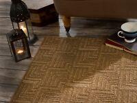 SALE Skyline Pinnacle Brown Fine Flat Weave Rug in various sizes and runner