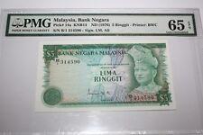 (PL) NEW: RM 5 B/1 314590 PMG 65 EPQ ISMAIL ALI 3RD SERIES (1976-1981) UNC