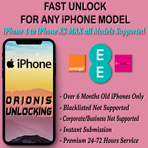 UNLOCK CODE SERVICE FOR iPhone 11 PRO 11 MAX XS XS MAX, XR X SE 8 7 6 PLUS EE UK