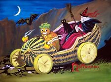 Halloween artist signed print #2  (11 3/4 x 8 1/2 inches)