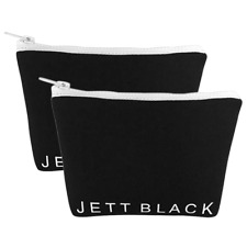 2 Pack Neoprene Travel Cases Womens Cosmetics Carry All Make Up Bag Pouches