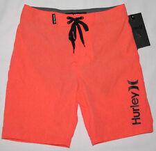 Hurley One and & Only Orange Heathered Swim Shorts Boardshorts Youth Boys Size 7