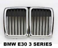 NEW BMW E30 3-Series 1982-1994 Front Center Gril Grills Black And Chrome