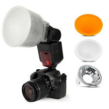 New Universal Cloud Lambency Flash Diffuser Reflector with White Dome Cover Sets