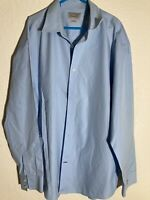 Mens Ashwoth XL Shirt Long Sleeve Light Blue Button Down