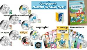 Série 10€ argent SCHTROUMPF 2020 cartelette blister collector 10euro peyo FRANCE