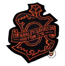 Vintage Harley Davidson Oak Leaf Old School Vest Patch Small Obsolete Item