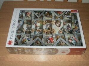 Trefl 6000 Piece Jigsaw Puzzle - Sistine Chapel Ceiling Rome BRAND NEW & SEALED