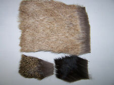 Patch for Fly Tying AKA Groundhog Size Large Marmot hair fur