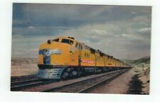 Antique Railroad Train Post Card Union Pacific Streamliner City of Los Angeles