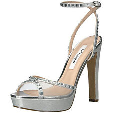 $99 size 7 Nina Bobbie Myrna Open Toe Heel Ankle Strap Platform Wedding Sandals