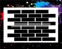 Brick Pattern 03 Airbrush Stencil,Template