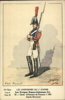France French  Military Uniform History Postcard GARDE D'HONNEUR DE FLORENCE