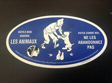 Autocollant  Tintin Ne les abandonnez pas version bleu foncée TTBE