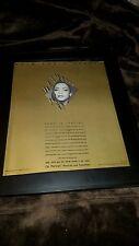 Sade Diamond Life Certified Gold Rare Original Promo Poster Ad Framed!