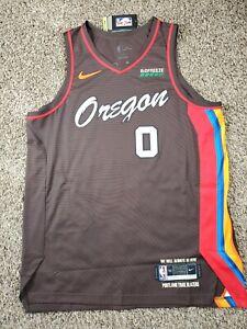 Damian Lillard XL 52 Authentic Trail Blazers Nike City Edition Jersey 20-21