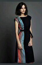 OSMAN Designers Women Belted Sleeveless Dress Sizes: 8,10,12 .