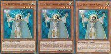 YUGIOH CARD 3 X LYLA, LIGHTSWORN SORCERESS  -  BLLR-EN036  ULTRA