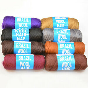 Knitting Brazil Wool Yarn Naf Brazilian Wool Hair Faux Locks Braid Twists Plaits
