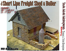 Short Line Freight Shed & Boiler Kit Thomas Yorke/Scale Model O/On30/1;48 *NEW*