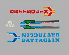 Battaglin Bicycle Decals, Transfers, Stickers - Blue/Red n.30