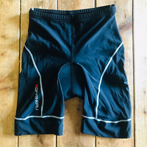 "Louis Garneau LG Womens Size Medium Cycling Padded Shorts Black Nylon 6"" Inseam"