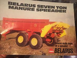 UMO Belarus seven tonne manure spreader tractor brochure Zetor 1990