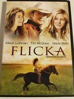 Flicka (DVD, 2007, Canadian Dual Side) Horse Movie Tim McGraw family film animal