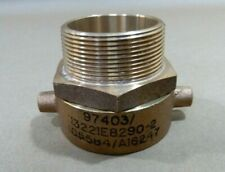 2 Female X 2 Male Npt Pin Lug Brass Swivel Hydrant Fire Hose Adapter Fitting