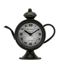 Imax Teapot Desk Clock, Bronze