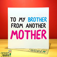 Brother From Another Mother Birthday 16th 18th 21st Card Party Banner Balloons