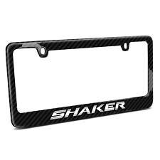 Dodge Challenger Shaker Real 3K Black Carbon Fiber License Plate Frame
